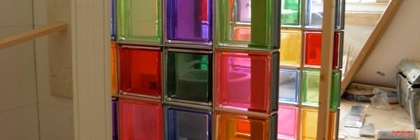 badkamer kleur glasblokken