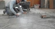 Natuurstenen vloer in woning Blokker